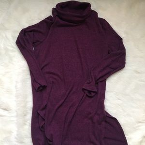 Old Navy plum turtleneck tunic sweater, XS